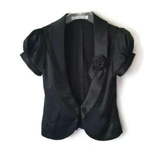 MaxMara blazer black with rose sz S
